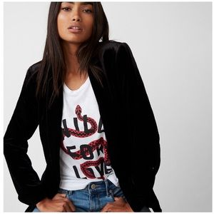 Black Soft Velvet Blazer Jacket